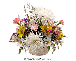 Flower Bouquet - Bouquet of flowers on white.