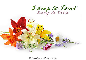 Flower Bouquet - Elegant flowers isolated on white