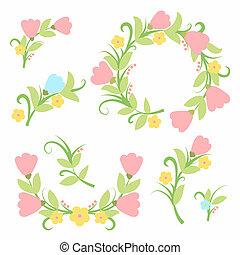 Flower bouquet element Set