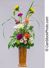 Flower bouquet in a vase