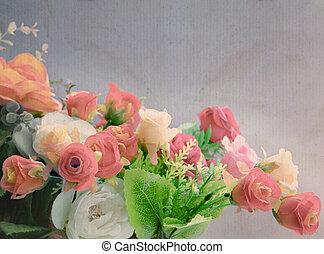 flower bouquet in vintage color sty
