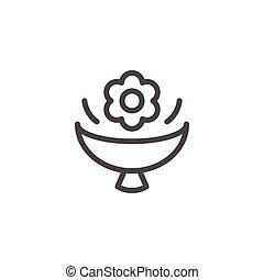 Flower bouquet line icon