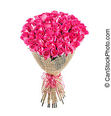 Flower bouquet of 50 pink roses