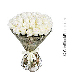 Flower bouquet of 50 white roses
