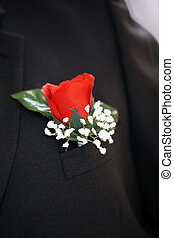 flower boutonniere - flower rose boutonniere for the male