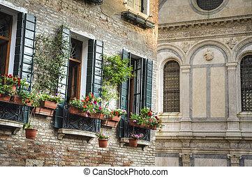 Flower box, Venice, Italy