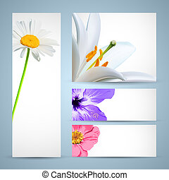 Flower Brochure Template. Background Design