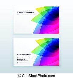 flower business card design template