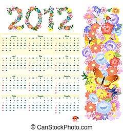 Flower Calendar for 2012