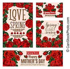 Flower card for Spring Season or Mother Day design