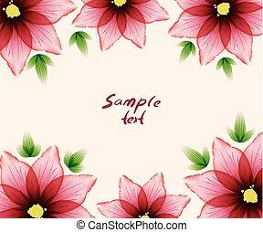 Flower card sample text