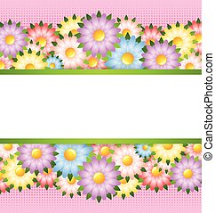 Flower card template