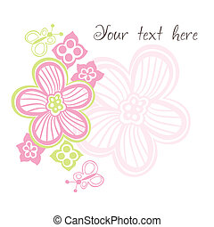 flower card with space for text