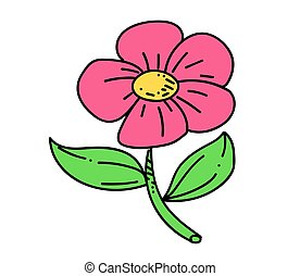 Flower cartoon hand drawn image