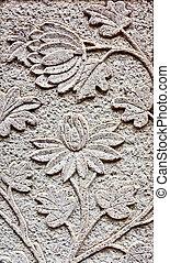 Flower carved