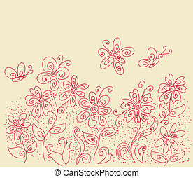 Flower clearing pattern