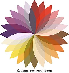 Flower color lotus silhouette for design. Vector...