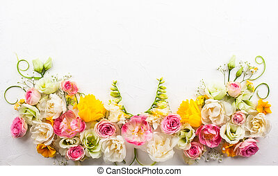 Flower composition - Festive flower composition on the white...