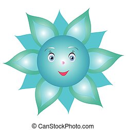Flower cornflower smiley,