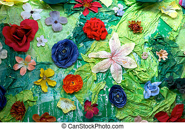Flower Craft Background - Artistic Craft and Flower...