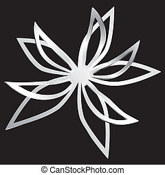 Flower cut out of paper.