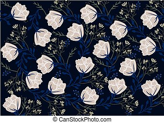 Flower decor background Vector