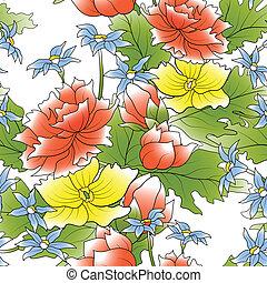 Flower decor seamless