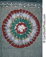Flower decoration, during Onam festival in Kerala known as ...