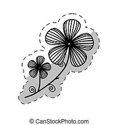 flower decoration image cut line