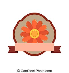flower decoration natural flora ribbon label