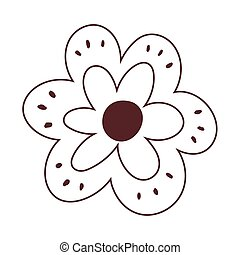 flower decoration nature isolated icon design line style