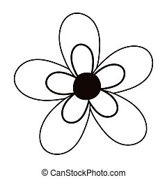 flower decoration nature isolated icon line style