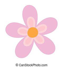 flower decoration nature isolated icon style