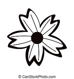flower decoration ornament isolated icon line style
