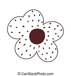 flower decoration ornament natural isolated icon design line style