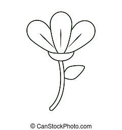 flower delicate decoration ornament line style icon