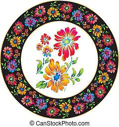 Flower design for ceramic
