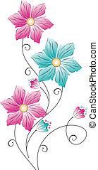 Flower design on white background