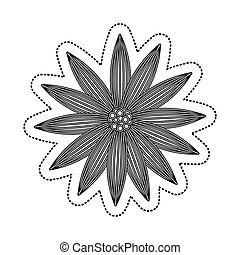 flower drawing isolated icon