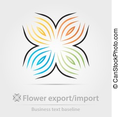 Flower export,import business icon