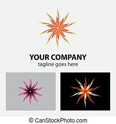 Flower fire circular logo vector