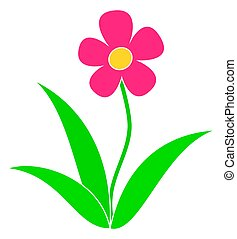 Flower flat icon. Vector illustration isolated on white background.