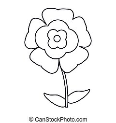 flower flourish natural outline