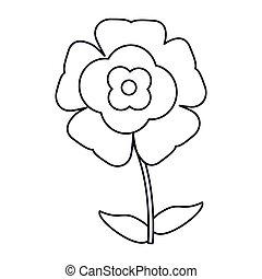 flower flourish natural outline