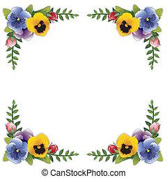 Flower Frame, Pansies and Roses - Victorian flower frame ...