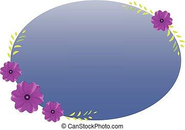 Flower frame watercolor