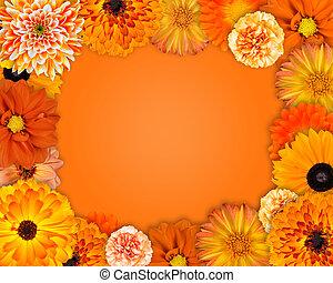 Flower Frame with Orange Flowers
