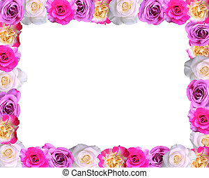 flower frame with space for text background