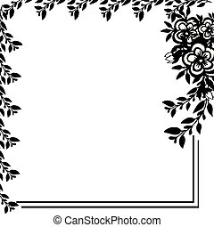 Flower frames arranged on a shape of the wreath beautiful. Vector