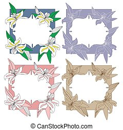 Flower frames set